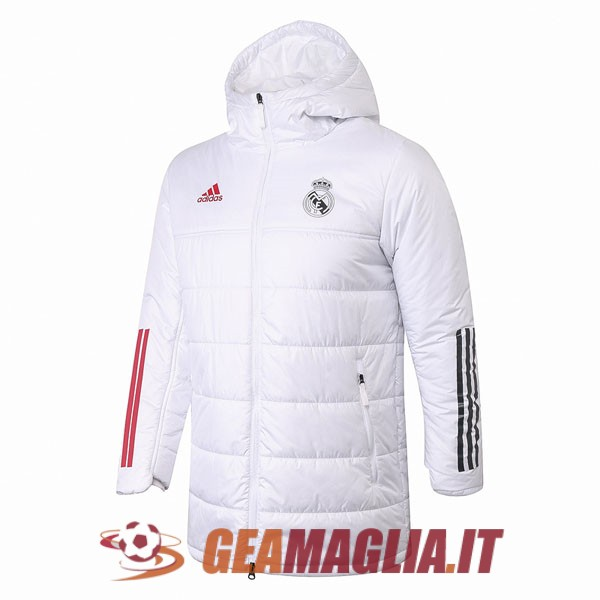 bianco giacca invernale real madrid 2020-2021